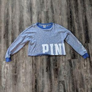 Pink Victoria Secret crop sweatshirt